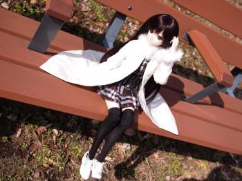 ベンチで一休み♪
