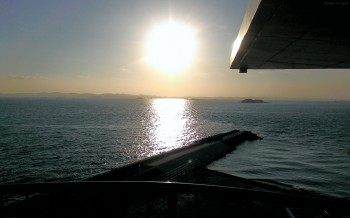 富津岬からの夕日