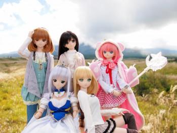 富士の前で全員集合